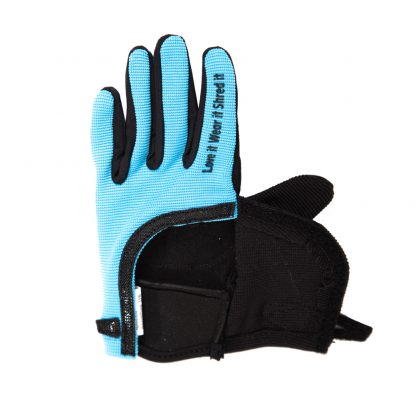 Child Full Finger Trail Glove Blue Wide Opening