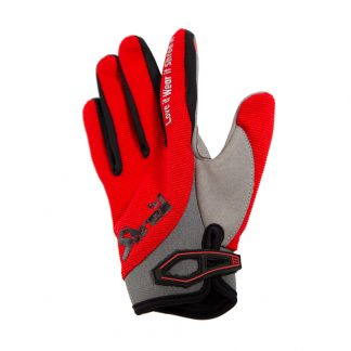 Youth Full Finger Trail Glove Red