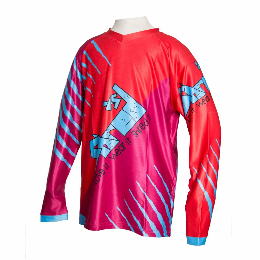 Downhill Dino Jersey For Kid MTB Riders - Stretch Material - ShredXS bd68bb8a4